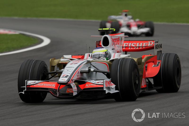 2008: Force India VJM01 Ferrari (одно десятое место в гонке, 10-е место в КК)