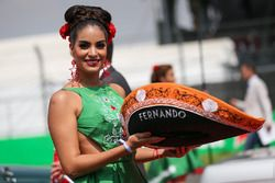 Grid girl with Sombrero hat