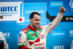Podium: winnaar Norbert Michelisz, Honda Racing Team JAS, Honda Civic WTCC