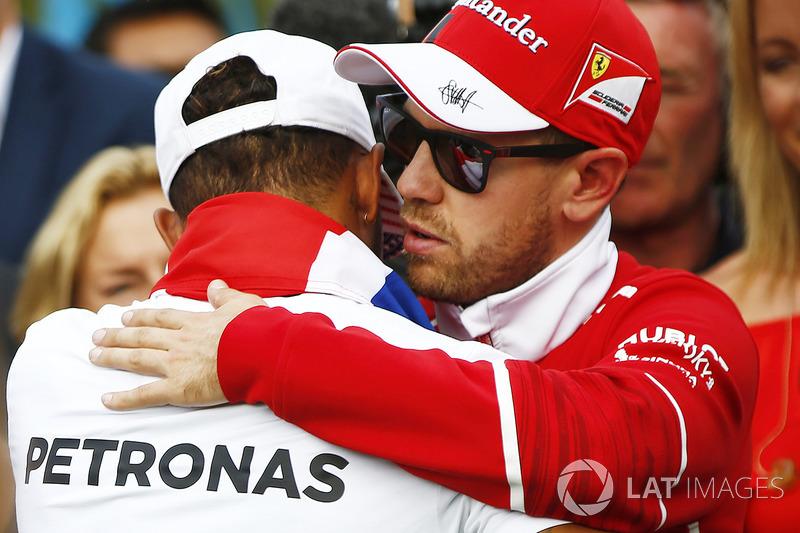 Campeón del Mundo 2017, Lewis Hamilton, Mercedes AMG F1, Sebastian Vettel, Ferrari