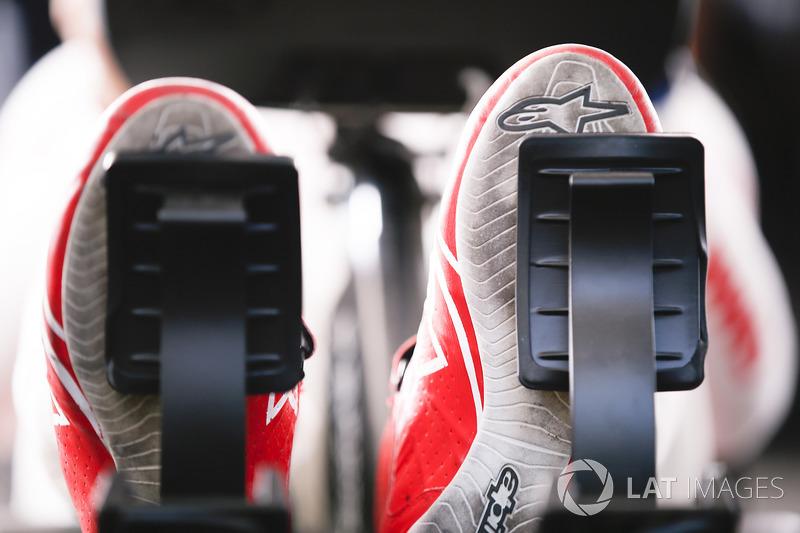 The feet ofJose Maria Lopez, Dragon Racing, during the eRace