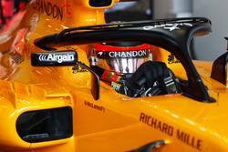 Stoffel Vandoorne, McLaren, dans son cockpit