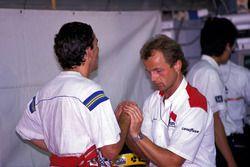 Ayrton Senna, McLaren ve Josef Leberer, McLaren Fizyoterapisti