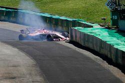 Esteban Ocon, Sahara Force India F1 VJM10 crash
