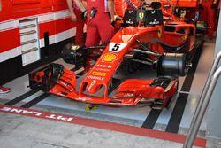 La Ferrari SF71H di Sebastian Vettel