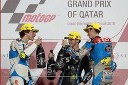 Podium: Lorenzo Baldassarri, Pons HP 40, Francesco Bagnaia, Sky Racing Team VR46, Alex Marquez, Marc