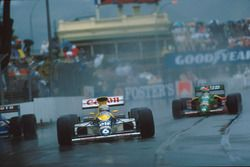 Riccardo Patrese, Williams FW13, Emanuele Pirro, Benetton B189