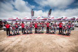 #20 Monster Energy Honda Team Honda: Ricky Brabec, #14 Monster Energy Honda Team Honda: Michael Metg