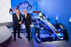 Alejandro Agag, Founder CEO of Formula E and Ulrich Spiesshofer, CEO of ABB
