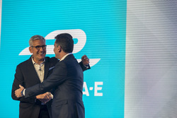 Alejandro Agag, Founder & CEO of Formula E and Ulrich Spiesshofer, CEO of ABB announce the first-ever title sponsorship