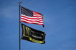 Flaggen: USA und Monster Energy NASCAR Cup Series Playoffs