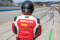A Pirelli World Challenge official