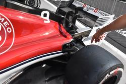 Sauber C37 detalle trasero
