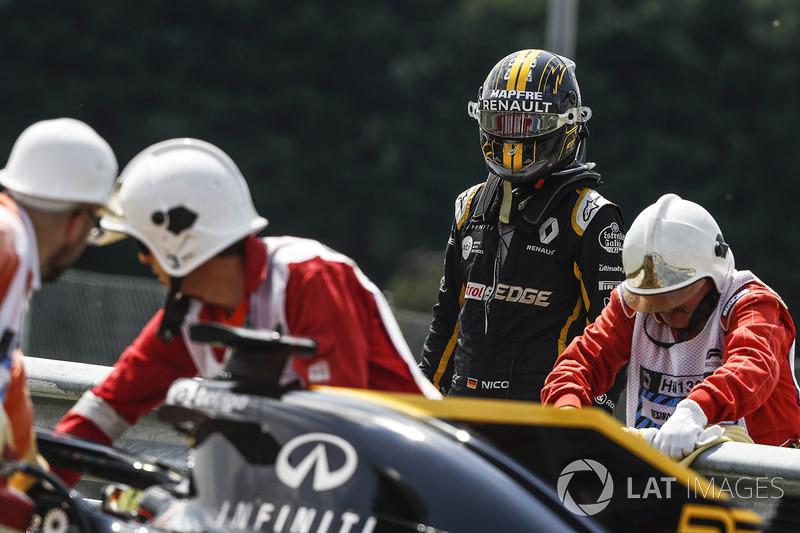 Nico Hulkenberg, Renault Sport F1 Team R.S. 18 arrêté en piste