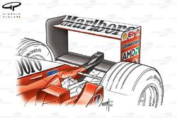 Ferrari F2002 (653) 2002 Monza rear wing