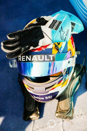 The helmet of Sébastien Buemi, Renault e.Dams