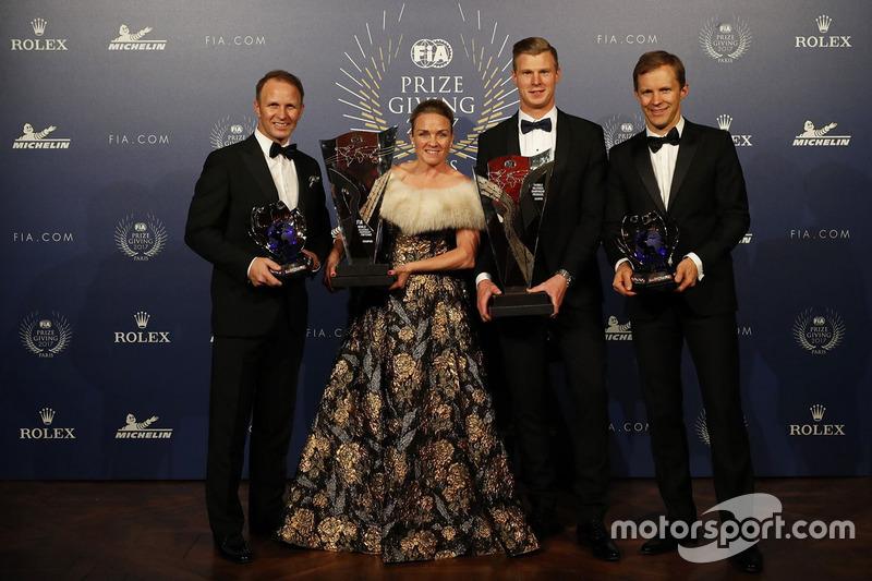 Petter Solberg avec Pernilla Solberg, Johan Kristoffersson et Mattias Ekström