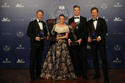 Petter Solberg with Pernilla Solberg, Johan Kristoffersson and Mattias Ekström