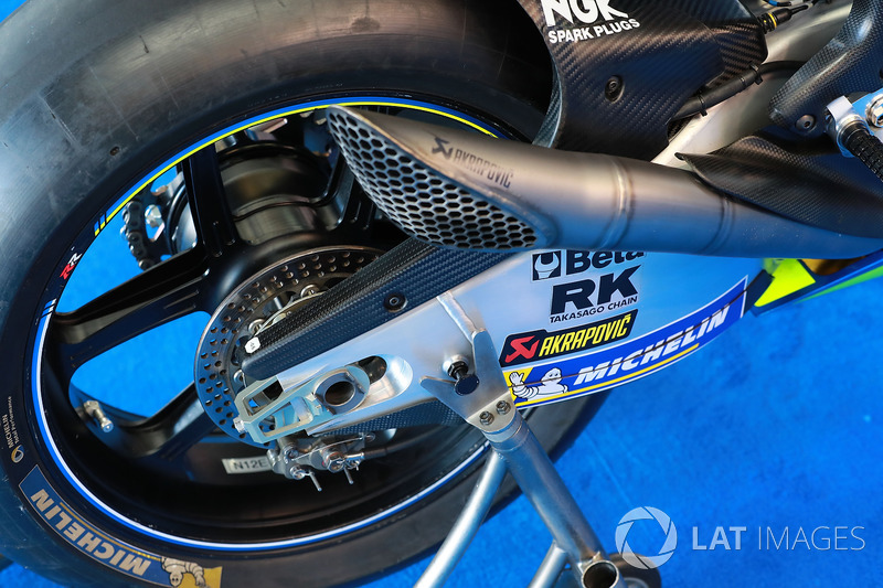 Alex Rins, Team Suzuki MotoGP, swingarm