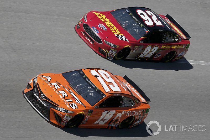 Daniel Suarez, Joe Gibbs Racing, Toyota Camry ARRIS Timothy Peters, RBR Enterprises, Ford Fusion Advance Auto Parts / Black's Tire / BTS Tire & Wheel Distributors / BB&T / Highland Construction