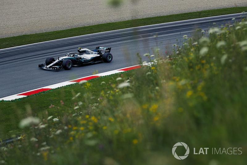 7º Valtteri Bottas, Mercedes-AMG F1 W09, Spielberg 2018. Tiempo: 1:03.130