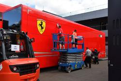 Ferrari truck is cleaned