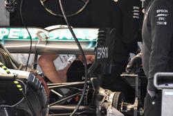 Mercedes AMG F1 W09 ala trasera