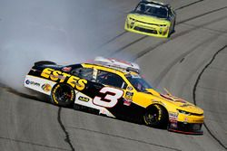 Jeb Burton, Richard Childress Racing, Chevrolet Camaro Work4Estes.com crashes in turn 3