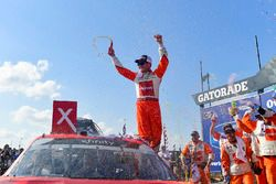 Kyle Larson, Chip Ganassi Racing, Chevrolet Camaro ENEOS celebrates after winning