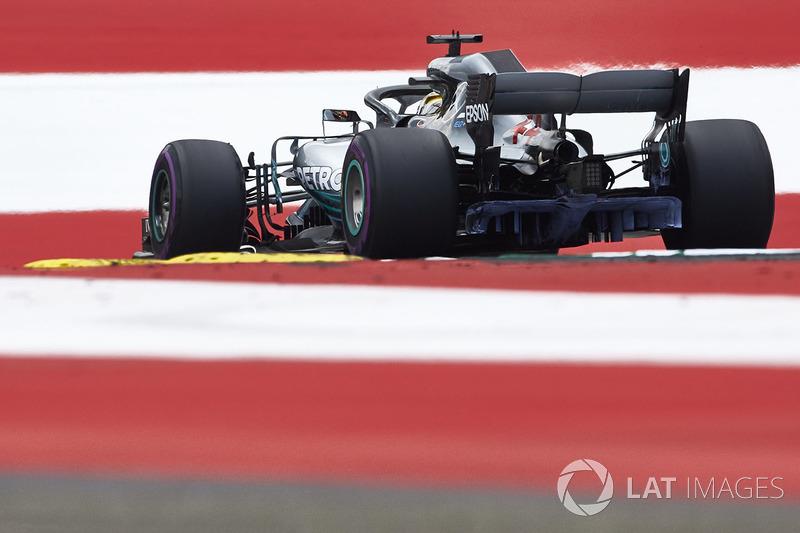 El Mercedes AMG F1 W09 con parafina en Spielberg