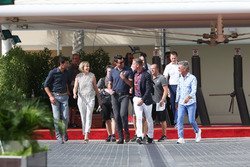 Mark Webber, Susie Wolf, Steve Jones, David Coulthard ed Eddie Jordan, Channel 4 TV