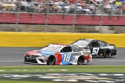 Kyle Busch, Joe Gibbs Racing, Toyota Camry M&M's Red White & Blue and B.J. McLeod, Rick Ware Racing, Chevrolet Camaro Prefund Capital