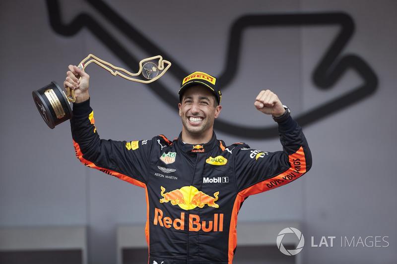 Daniel Ricciardo, Red Bull Racing (29 podios)