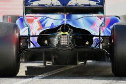 Brendon Hartley, Scuderia Toro Rosso STR13 detalle difusor trasero