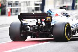 L'arrière de la voiture de Lance Stroll, Williams FW41