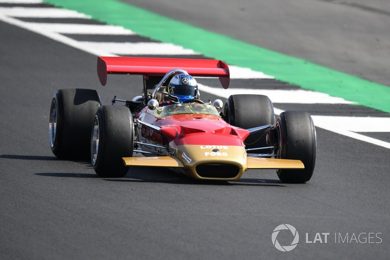 Lotus 49B at Silverstone 70th Anniversary Parade