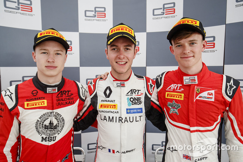 Le podium du GP3 Series 2018
