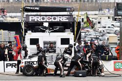 Kasey Kahne, Leavine Family Racing, Chevrolet Camaro Procore, makes a pit stop