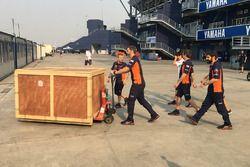 Marc Marquez, Repsol Honda Team gets a birthday present from his team