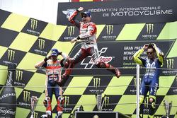 Podium: 1. Jorge Lorenzo, 2. Marc Marquez, 3. Valentino Rossi