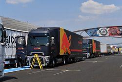 Red Bull Racing camiones y contenedores
