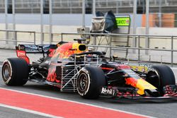Max Verstappen, Red Bull Racing RB14 met sensoren