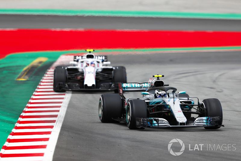 Valtteri Bottas, Mercedes AMG F1 W09, Sergey Sirotkin, Williams FW41