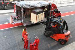 Le matériel Ferrari acheminé par DHL