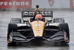 James Hinchcliffe, Schmidt Peterson Motorsports Honda en qualifications sous la pluie