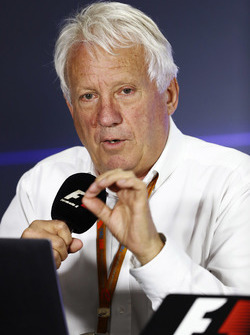 Charlie Whiting, FIA Race Director, holds a press conference to explain decisions from officials at the recent US Grand Prix