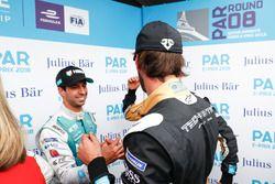 Antonio Felix da Costa, Andretti Formula E Team, felicita a Jean-Eric Vergne, Techeetah, por su pole position