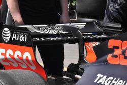 Detalle del alerón trasero del Red Bull Racing RB14