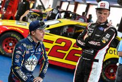 Kevin Harvick, Stewart-Haas Racing, Ford Fusion Busch Beer Flannel and Clint Bowyer, Stewart-Haas Racing, Ford Haas Automation Demo Day