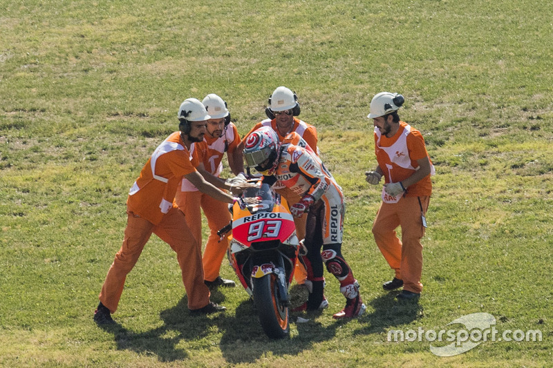 Marc Marquez, Repsol Honda Team, kecelakaan